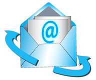 ελάτε σε επαφή με το ταχυδρομείο τηλεφωνά σε μας Στοκ εικόνες με δικαίωμα ελεύθερης χρήσης