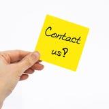 ελάτε σε επαφή με το ταχυδρομείο τηλεφωνά σε μας Στοκ φωτογραφία με δικαίωμα ελεύθερης χρήσης