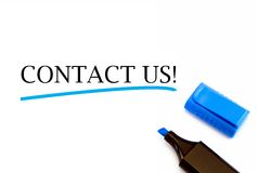 ελάτε σε επαφή με το ταχυδρομείο τηλεφωνά σε μας στοκ φωτογραφίες