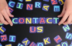 ελάτε σε επαφή με το ταχυδρομείο τηλεφωνά σε μας Στοκ εικόνα με δικαίωμα ελεύθερης χρήσης