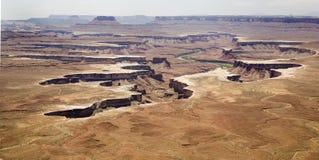 Εδάφη ΗΠΑ φαραγγιών κοντά Moab Στοκ Φωτογραφία