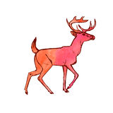 Ελάφια (σχέδιο χρωμάτων watercolor) Στοκ φωτογραφία με δικαίωμα ελεύθερης χρήσης