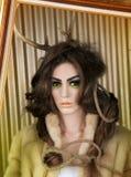 Ελάφια τέχνης Makeup Στοκ εικόνα με δικαίωμα ελεύθερης χρήσης