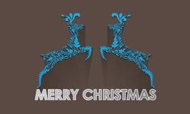 Ελάφια Χριστουγέννων, εκλεκτής ποιότητας διανυσματική απεικόνιση Στοκ εικόνα με δικαίωμα ελεύθερης χρήσης