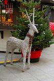 Ελάφια Χριστουγέννων με το μαντίλι Στοκ εικόνες με δικαίωμα ελεύθερης χρήσης