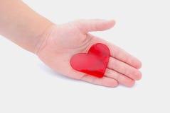 Σας δίνω την έννοια καρδιών μου Στοκ φωτογραφία με δικαίωμα ελεύθερης χρήσης