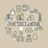 Ελάχιστα εικονίδια περιλήψεων πετρελαίου Στοκ Εικόνες