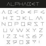 Ελάχιστο αφηρημένο αλφάβητο Στοκ φωτογραφία με δικαίωμα ελεύθερης χρήσης