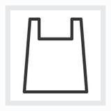 Ελάχιστο εικονίδιο τσαντών αγορών Στοκ Εικόνες