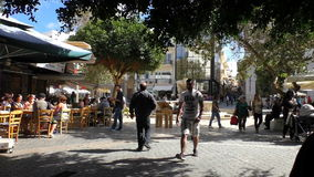Ελλάδα Για τους πεζούς περιοχή στο κέντρο πόλεων Ηρακλείου φιλμ μικρού μήκους