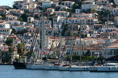Ελλάδα, λιμένας Hydra Στοκ εικόνα με δικαίωμα ελεύθερης χρήσης