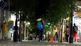 Ελλάδα Κέντρο πόλεων τη νύχτα απόθεμα βίντεο