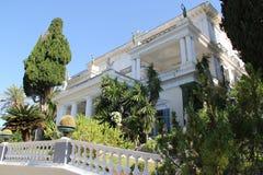 Ελλάδα, Κέρκυρα, άποψη του παλατιού Achilleion Στοκ Εικόνα