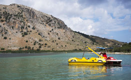 Ελλάδα, νησί της Κρήτης, λίμνη Kurnas Στοκ Εικόνες
