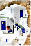 Ελλάδα, σπίτια Santorini Στοκ εικόνα με δικαίωμα ελεύθερης χρήσης