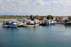 Ελλάδα, Keramoti, σκάφη αλιείας Στοκ Εικόνες