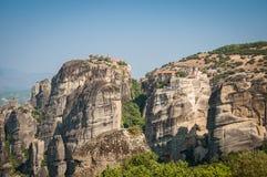 2016, Ελλάδα Meteora, όμορφο τοπίο των μοναστηριών Meteora Στοκ εικόνα με δικαίωμα ελεύθερης χρήσης