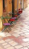 Ελλάδα paleokastrica νησιών της Κέρκυρας Ελλάδα ακτών Πόλη της Κέρκυρας Ένας υπαίθριος καφές Στοκ φωτογραφία με δικαίωμα ελεύθερης χρήσης