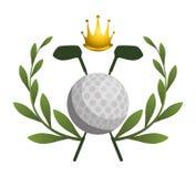 ελέγξτε τις απεικονίσεις γκολφ λεσχών περισσότερο παρακαλώ το χαρτοφυλάκιό μου αθλητικό Στοκ Εικόνες
