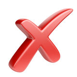 ελέγξτε το κόκκινο σημαδ ελεύθερη απεικόνιση δικαιώματος
