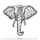 ελέφαντας εθνικός για τις κάρτες, σχέδιο συρμένο χέρι ελεύθερη απεικόνιση δικαιώματος