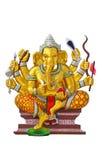 Ελέφαντας - διευθυνμένος Θεός στο ναό Στοκ Εικόνα