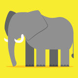 Ελέφαντας κινούμενων σχεδίων που απομονώνεται σε κενό Backgrond Στοκ εικόνα με δικαίωμα ελεύθερης χρήσης