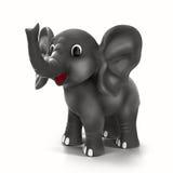 Ελέφαντας κινούμενων σχεδίων που απομονώνεται στο άσπρο υπόβαθρο διανυσματική απεικόνιση