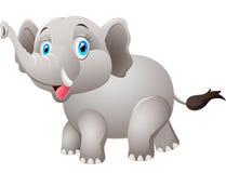 Ελέφαντας κινούμενων σχεδίων σε μια άσπρη ανασκόπηση Στοκ Φωτογραφίες
