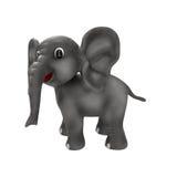 Ελέφαντας κινούμενων σχεδίων στο άσπρο υπόβαθρο απεικόνιση αποθεμάτων