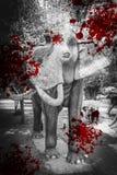 Ελέφαντας με την επίδραση αίματος, ελέφαντας κυνηγιού θανάτωσης Στοκ φωτογραφία με δικαίωμα ελεύθερης χρήσης