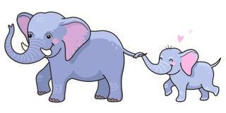 Ελέφαντας με cub Στοκ Εικόνες