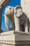 Ελέφαντας πετρών ναών Wanshou Στοκ εικόνα με δικαίωμα ελεύθερης χρήσης