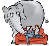 Ελέφαντας σε room2 ελεύθερη απεικόνιση δικαιώματος