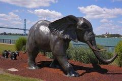 Ελέφαντες στο πάρκο ODETTE σε Windsor Στοκ φωτογραφία με δικαίωμα ελεύθερης χρήσης