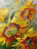 Ελαιογραφία σύστασης, λουλούδια, τέχνη, χρωματισμένη εικόνα χρώματος, χρώμα, Στοκ εικόνες με δικαίωμα ελεύθερης χρήσης