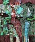 Ελαιογραφία σύστασης συντάκτης ρωμαϊκό Nogin, συζήτηση γυναικών ` s σειράς ` `, έκδοση συντακτών ` s του χρώματος Στοκ φωτογραφία με δικαίωμα ελεύθερης χρήσης
