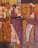 Ελαιογραφία σύστασης συντάκτης ρωμαϊκό Nogin, συζήτηση γυναικών ` s σειράς ` ` Στοκ Εικόνα
