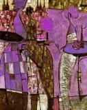 Ελαιογραφία σύστασης συντάκτης ρωμαϊκό Nogin, συζήτηση γυναικών ` s σειράς ` ` Στοκ φωτογραφία με δικαίωμα ελεύθερης χρήσης