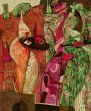 Ελαιογραφία σύστασης συντάκτης ρωμαϊκό Nogin, συζήτηση γυναικών ` s σειράς ` ` Στοκ Φωτογραφίες