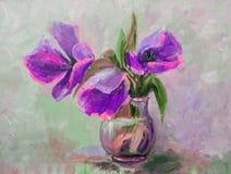 Ελαιογραφία, ύφος Impressionism, ζωγραφική σύστασης, λουλούδι stil Στοκ εικόνες με δικαίωμα ελεύθερης χρήσης