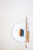 Ελαιόχρωμα με τη ζωγραφική των οργάνων Στοκ φωτογραφίες με δικαίωμα ελεύθερης χρήσης