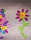 Ελαστικές ζώνες τρίχας Hairbands - λουλούδι Στοκ φωτογραφία με δικαίωμα ελεύθερης χρήσης