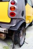 Ελαστικό αυτοκινήτου έκρηξης Στοκ Εικόνα