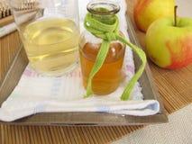 Εδαφοβελτιωτικό τρίχας με το ξίδι μηλίτη μήλων Στοκ εικόνες με δικαίωμα ελεύθερης χρήσης