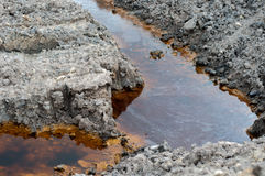 Εδαφολογική ρύπανση Στοκ Φωτογραφίες