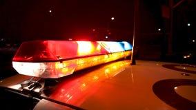 Ελαφριά λάμψη φραγμών περιπολικών της Αστυνομίας απόθεμα βίντεο