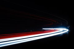 Ελαφριά ίχνη αυτοκινήτων στη σήραγγα Στοκ Φωτογραφία