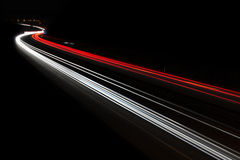 ελαφριά ίχνη οδών Στοκ Φωτογραφίες
