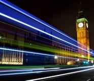 Ελαφριά ίχνη Big Ben στοκ εικόνες με δικαίωμα ελεύθερης χρήσης
